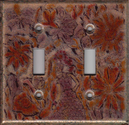 Autumn color images art switch plate