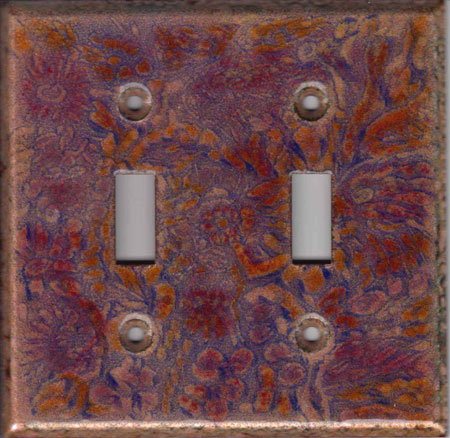 Soft Pink and Red Images with purple art switch plate
