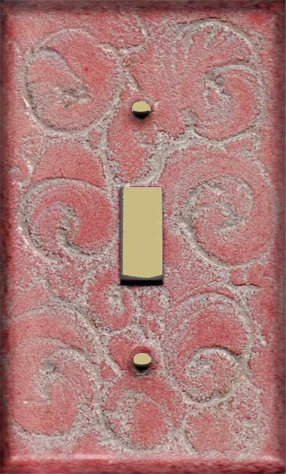 Pale Yellow Swirl decorative switch plate covers