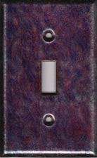 Purple and Red Striated artisan switch plate cover