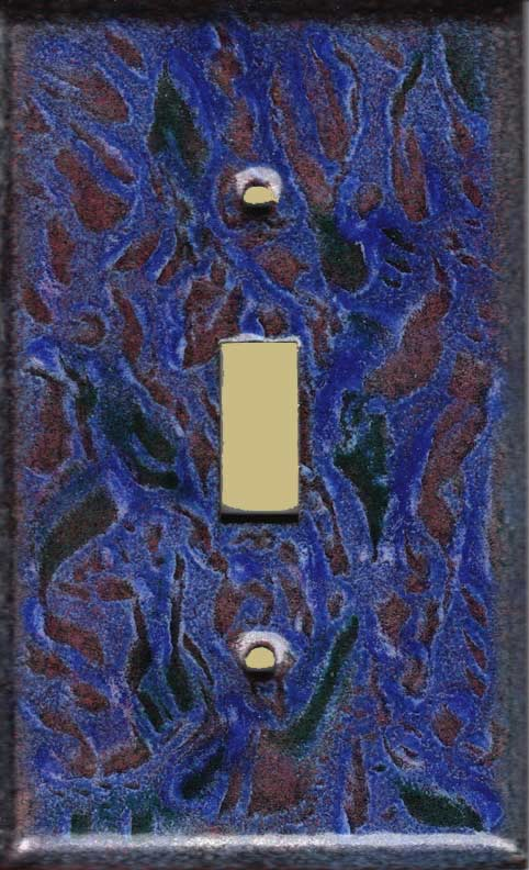 Purple and Red with Green decorative switch plate covers