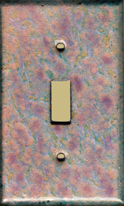 Pinkish Purple and Yellow with Blue-green decorative switch plate covers